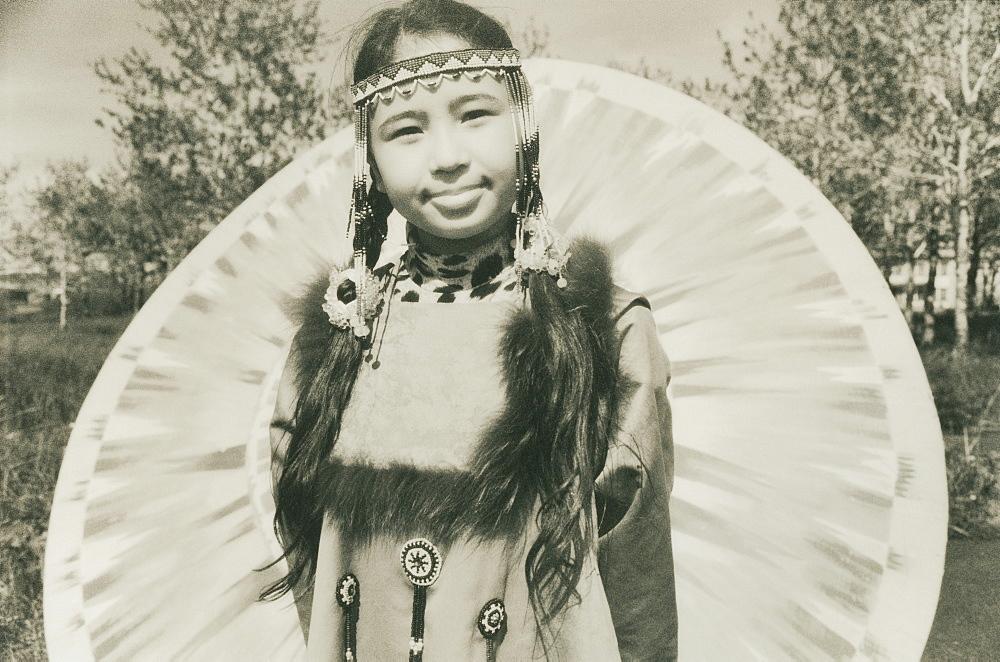 2008; Inuit young Female of Koryaks peoples in native clothes, Ossora Village (Koryakskiy Peninsular) Russia, Asia