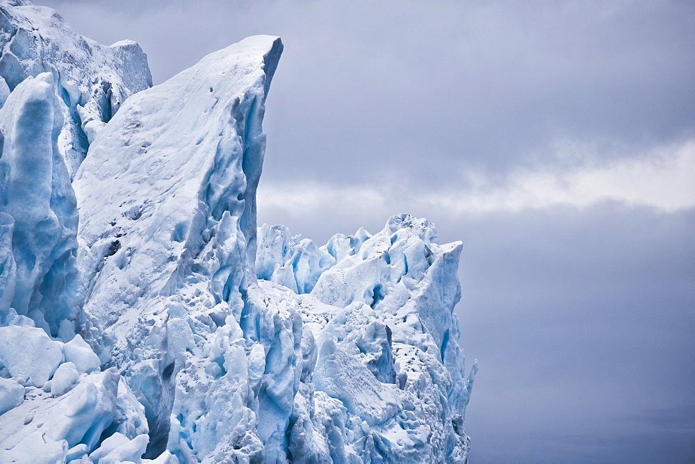 Iceberg front, Disko Bay, Ilulissat, Jakobshavn, Qaasuitsup, Greenland (Denmark), North America