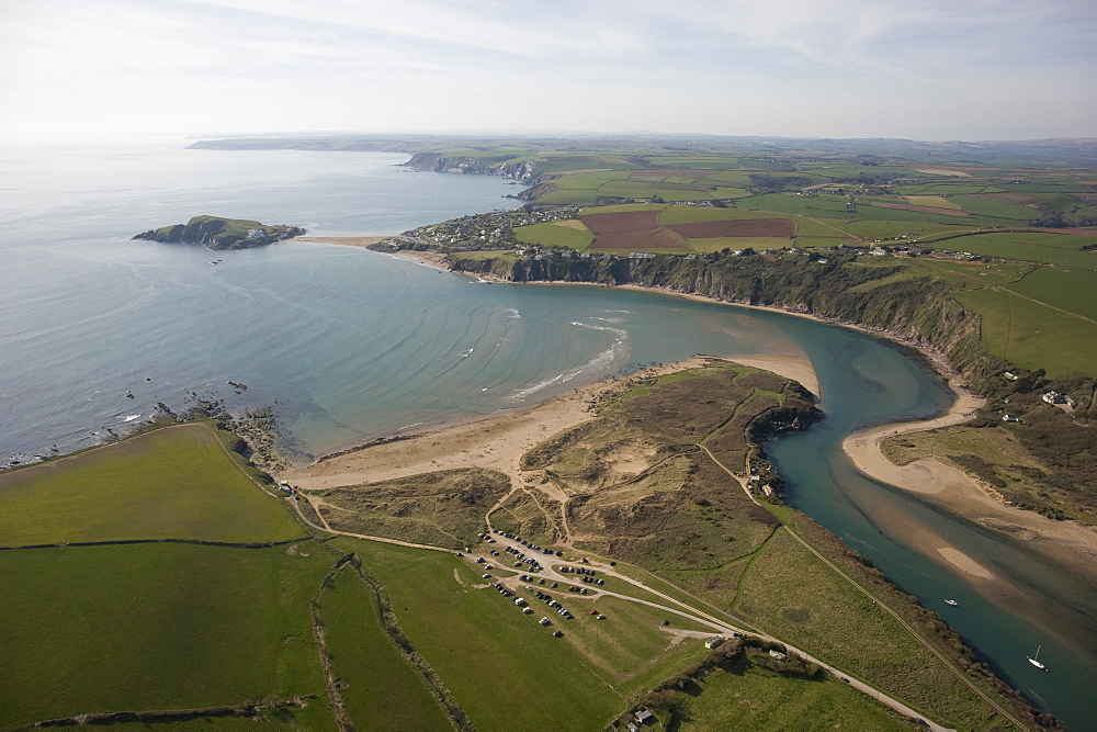 Burgh Island and Bigbury on Sea. Devon UK