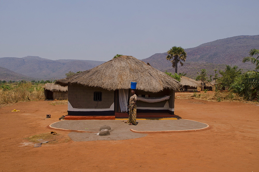 Typical mud house, Talpia, Zambia, Africa