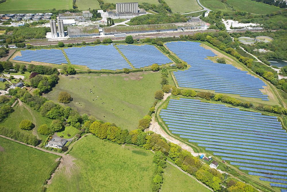 Solar panels in Cornwall, England, United Kingdom, Europe