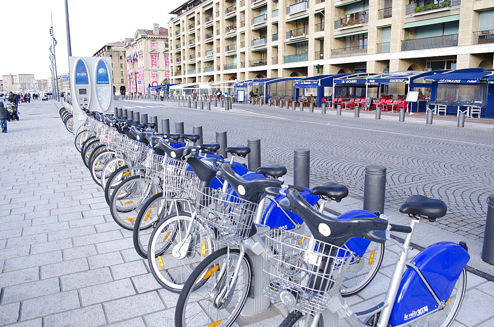 Bicycle hire in Marseille, Provence, France, Europe - 934-747