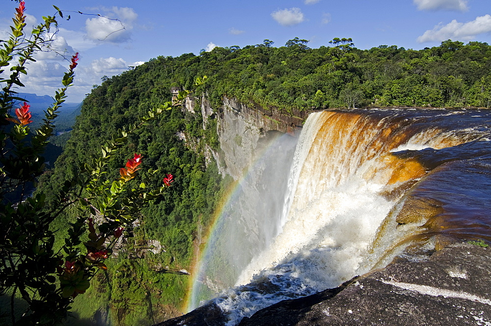 View across the rim of Kaieteur Falls, Guyana, South America