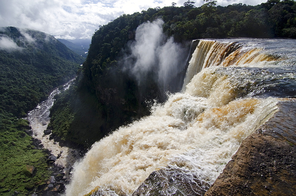 View from the Kaieteur Falls rim into the Potaro River Gorge, Guyana, South America
