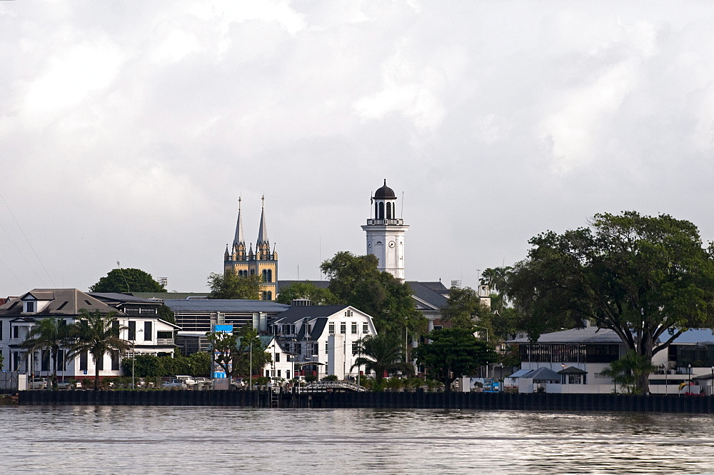 View of Paramaribo from the river, Paramaribo, Suriname, South America - 971-118