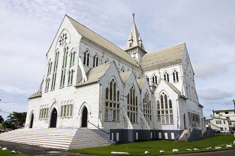 St. George's cathedral, one of the world's tallest wooden buildings, Georgetown, Guyana, South America