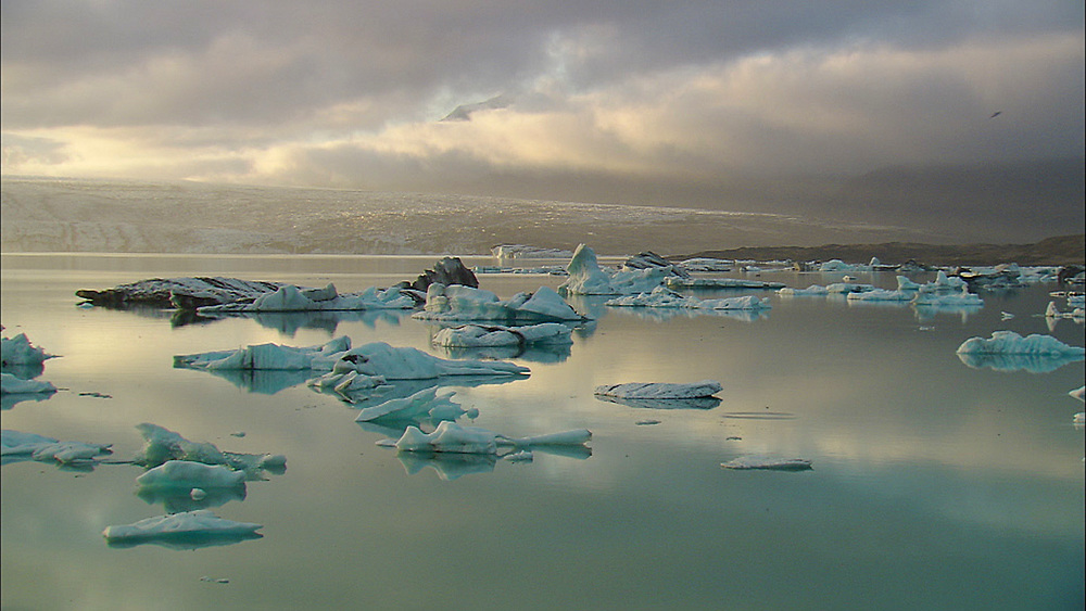 icebergs at sunset. Iceland - 972-26