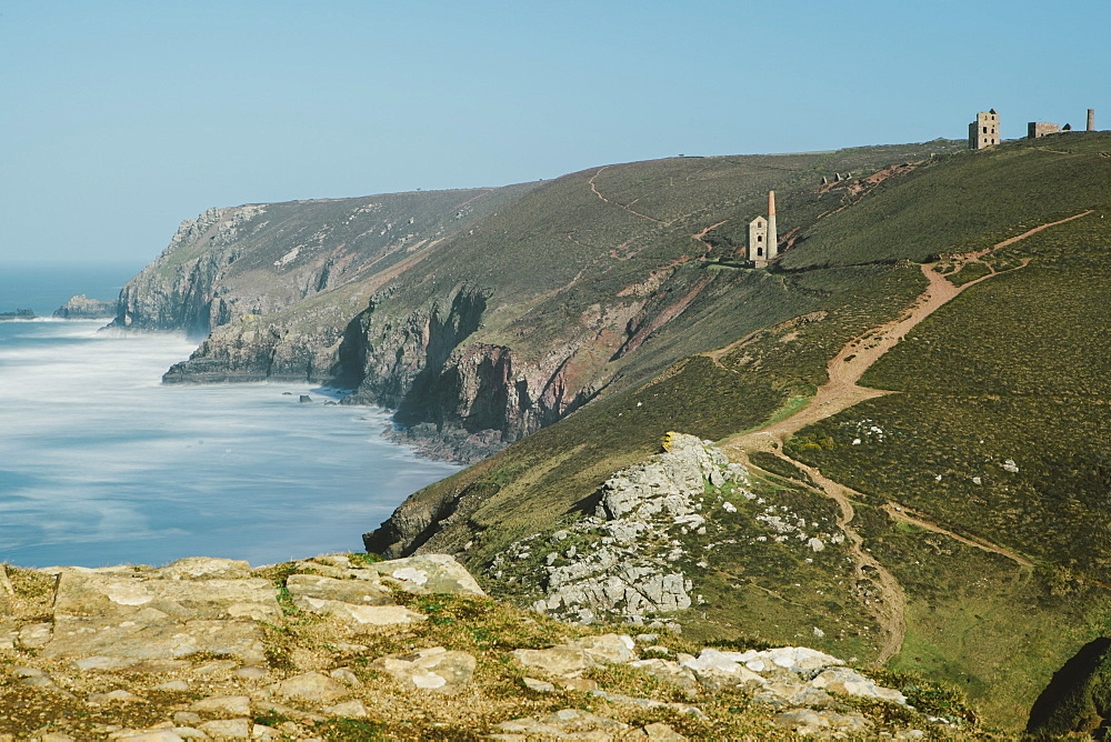 Wheal Coates Tin Mine, UNESCO World Heritage Site, St. Agnes, Cornwall, England, United Kingdom, Europe  - 974-394