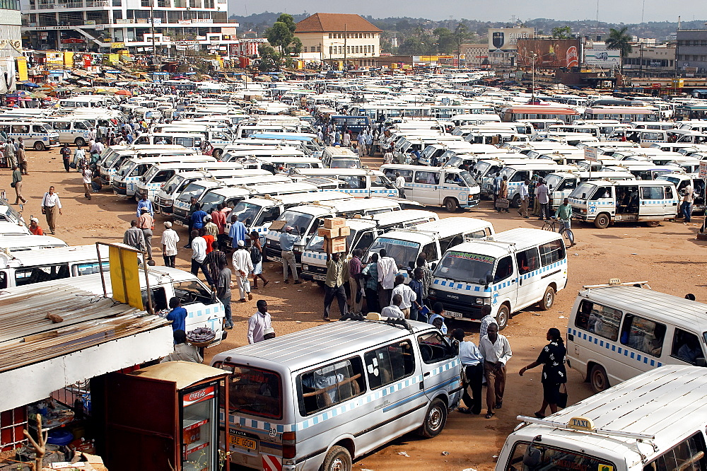 The best way to get around Kampala and the neighbouring towns is by using minibus-type taxis called matatus.  From here you can go to almost anywhere in Uganda.  A loud and colorful experience. Kampala, Uganda, East Africa