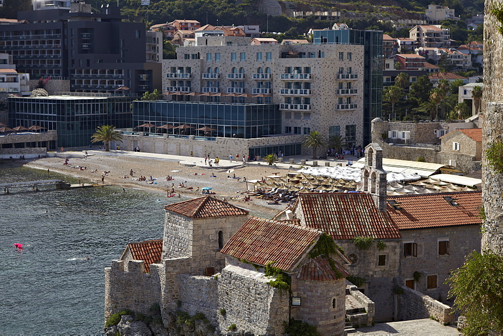 The old walled town of Budva, Montenegro, Europe