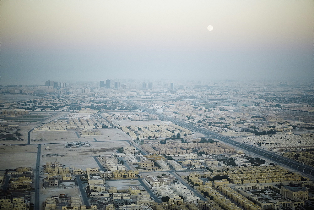 Aerial view of Doha from the Aspire Tower viewing platform, Doha, Qatar, Middle East - 975-248