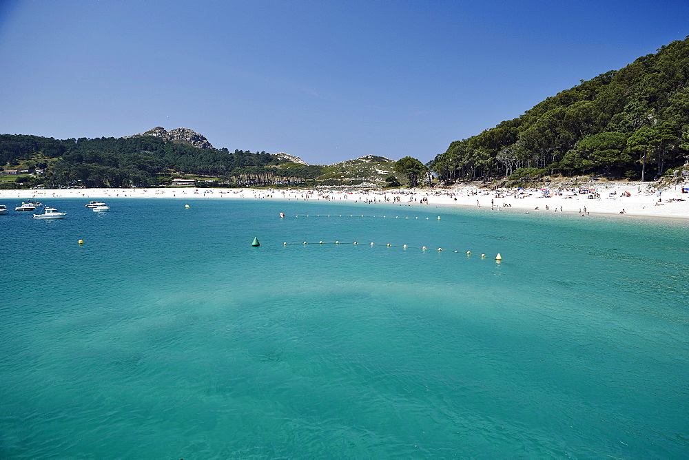 Rodas beach, Cies Islands, Galicia, Spain, Europe - 975-281