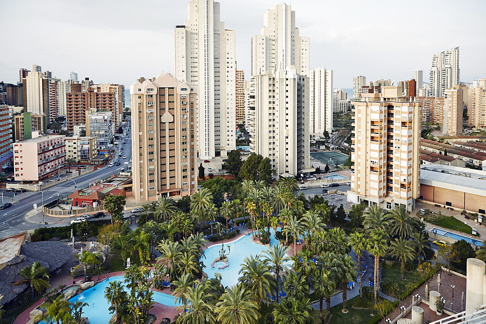 A forest of hi-rises in Benidorm, Costa Blanca, Spain, Mediterranean, Europe - 975-288