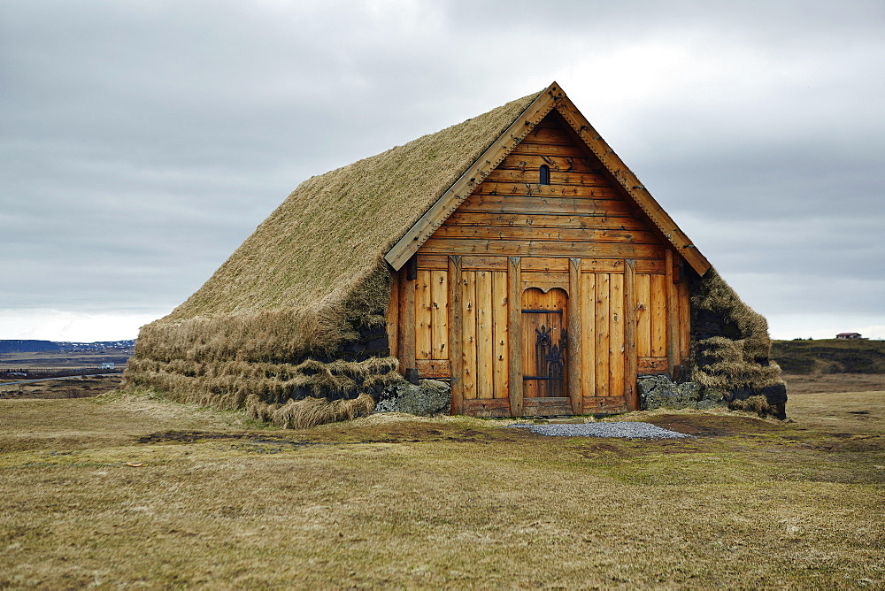 Skalholt Turf Church, Iceland, Polar Regions - 975-291