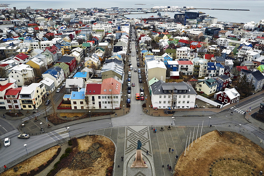 Reykjavik Harbour and Old Town, Iceland, Polar Regions - 975-292