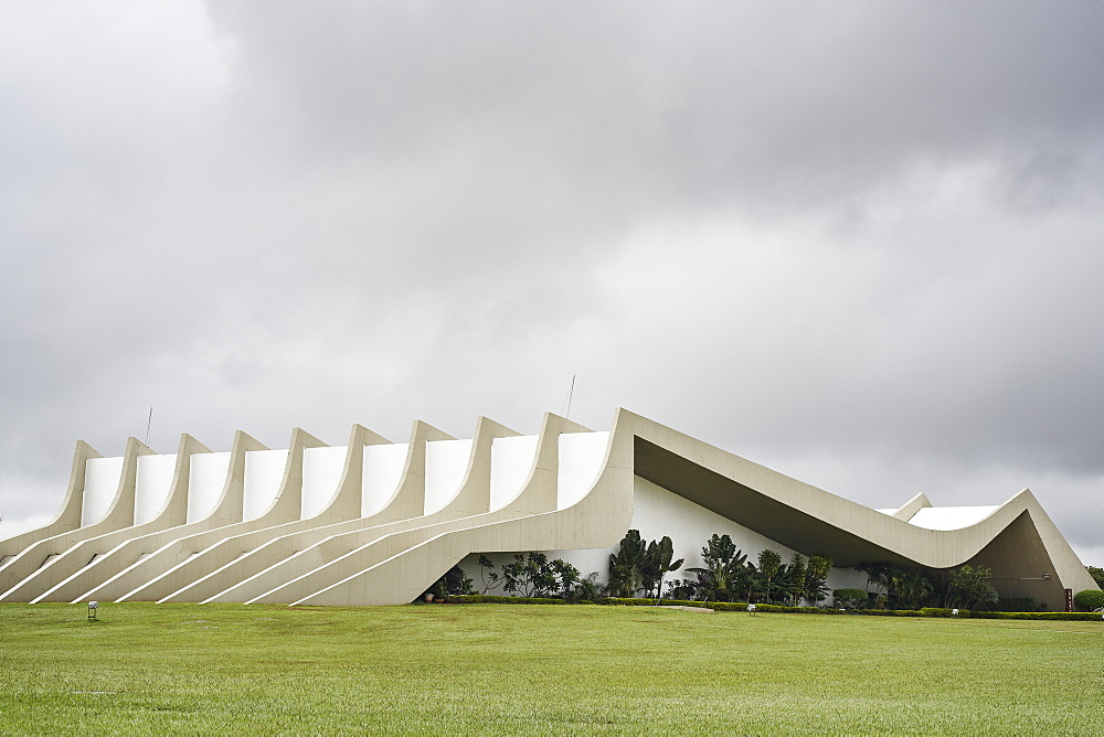 Army Headquarters designed by Oscar Niemeyer, Brasilia, UNESCO World Heritage Site, Brazil, South America - 975-302