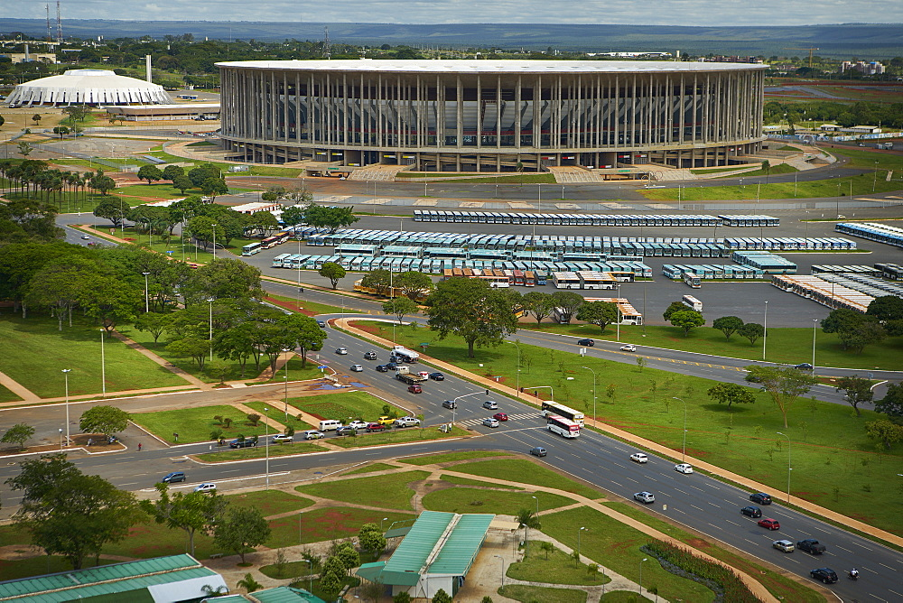 Estadio Nacional Mane Garrincha and Nilson Nelson Gymnasium, part of the Poliesportivo Ayrton Senna Complex, Brasilia, Brazil, South America - 975-313