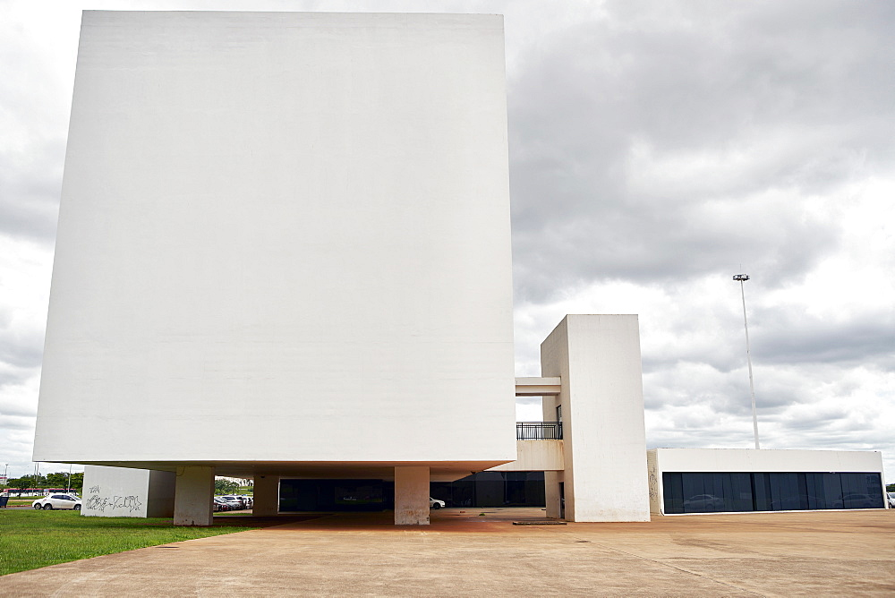 National Library in Brasilia, designed by Oscar Niemeyer, Brasilia, UNESCO World Heritage Site, Brazil, South America - 975-315