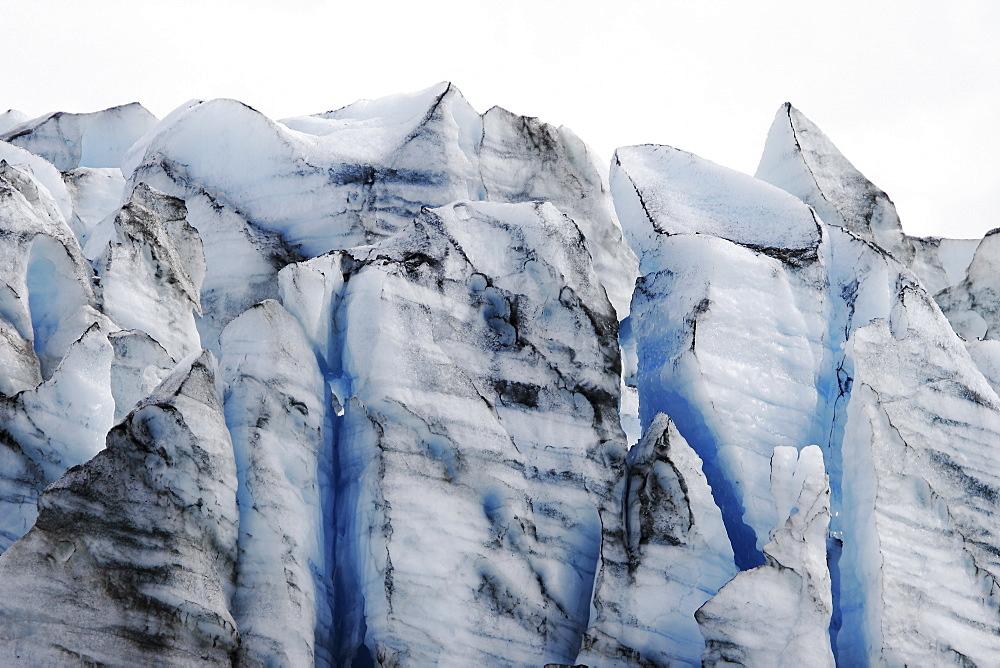 A view of Lamplugh Glacier in Glacier Bay National Park, Southeast Alaska, USA.