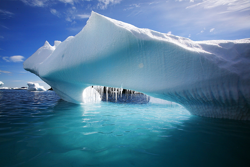 Iceberg detail in and around the Antarctic Peninsula during the summer months. More icebergs are being created as global warming is causing the breakup of major ice sheets. - 979-2181