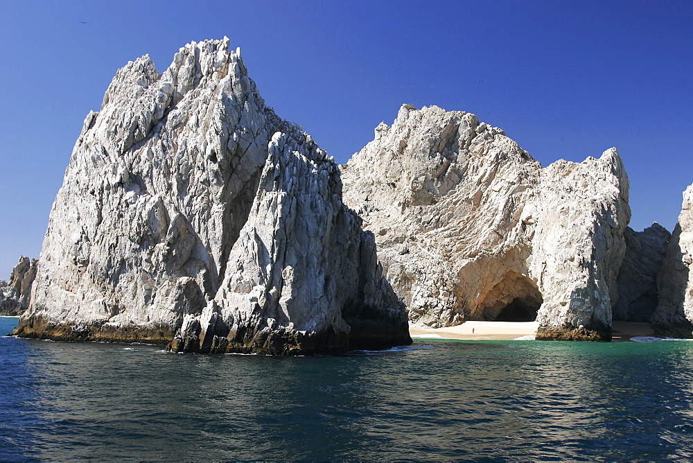 Land's end (finisterra), the famous tip of Baja in Cabo San Lucas, Baja, Mexico.