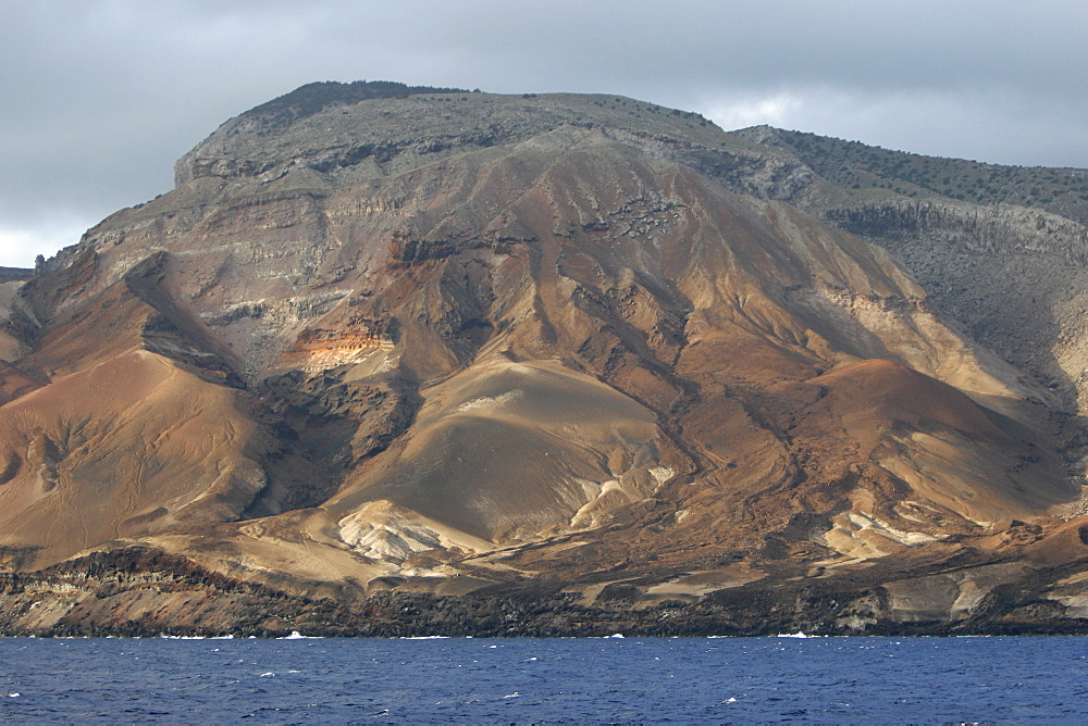 Volcanic tuft along the shoreline of Ascension Island in the south Atlantic Ocean.