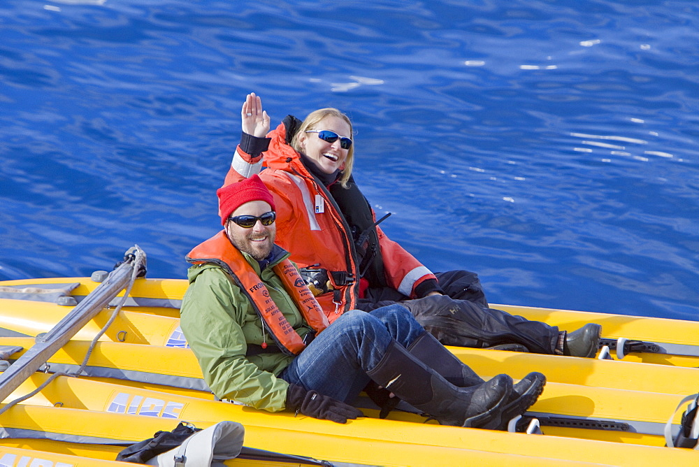 Natural history staff from the Lindblad Expedition ship National Geographic Endeavour doing various things in and around the Antarctic Peninsula in the summer months. Lindblad Expeditions pioneered Antarctic travel in 1969 and remains one of the premier Antarctic Expedition providers to this very day. No property or model releases are available for this image.