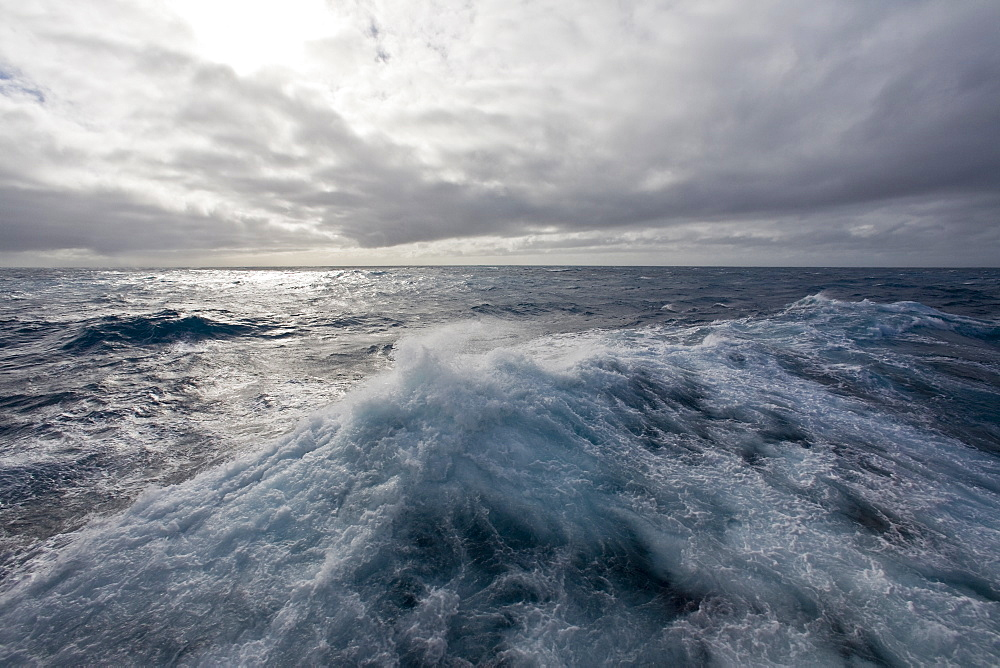 Views of the Drake Passage, the body of water between the southern tip of South America at Cape Horn, Chile and the South Shetland Islands of Antarctica