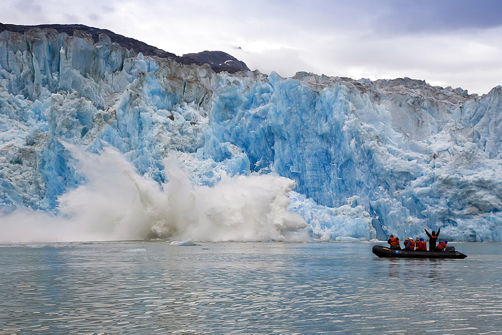 South Sawyer Glacier in Tracy Arm - Fords Terror Wilderness area in Southeast Alaska, USA.