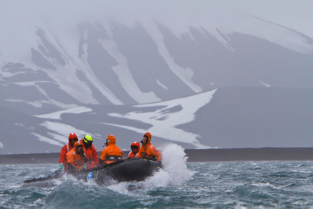 Staff from the Lindblad Expedition ship National Geographic Explorer in Antarctica