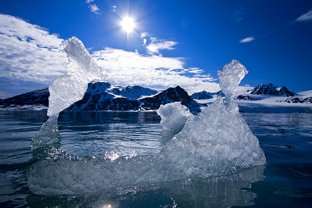 Ice in all of its myriad forms in the Svalbard Archipelago, Norway. MORE INFO Global climate change is affecting the formation and duration of ice in all its form here in Svalbard.