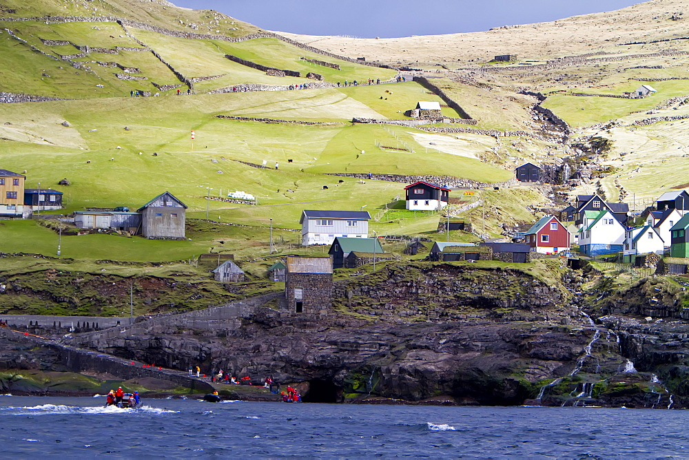 The tiny settlement at Hattarv¡k on remote Fugloy Island in the extreme Northeast part of the Faroe Islands, North Atlantic Ocean. MORE INFO There are two settlements on Fugloy Island: Kirkja on the south-coast and Hattarv¡k on the east-coast.
