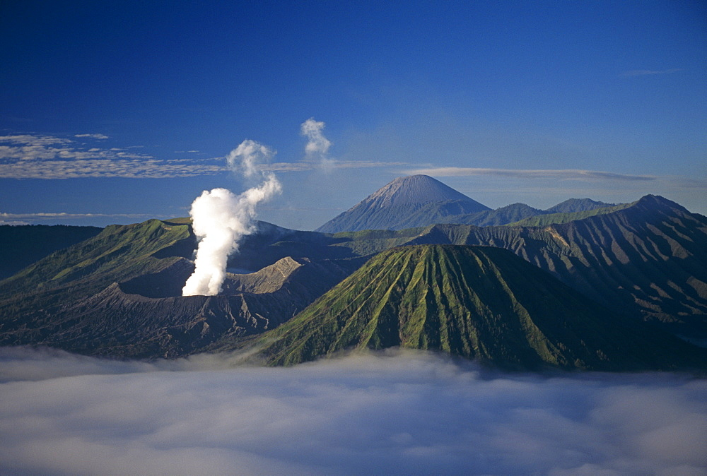 Mount Bromo  - an active volcano.  Java, Indonesia