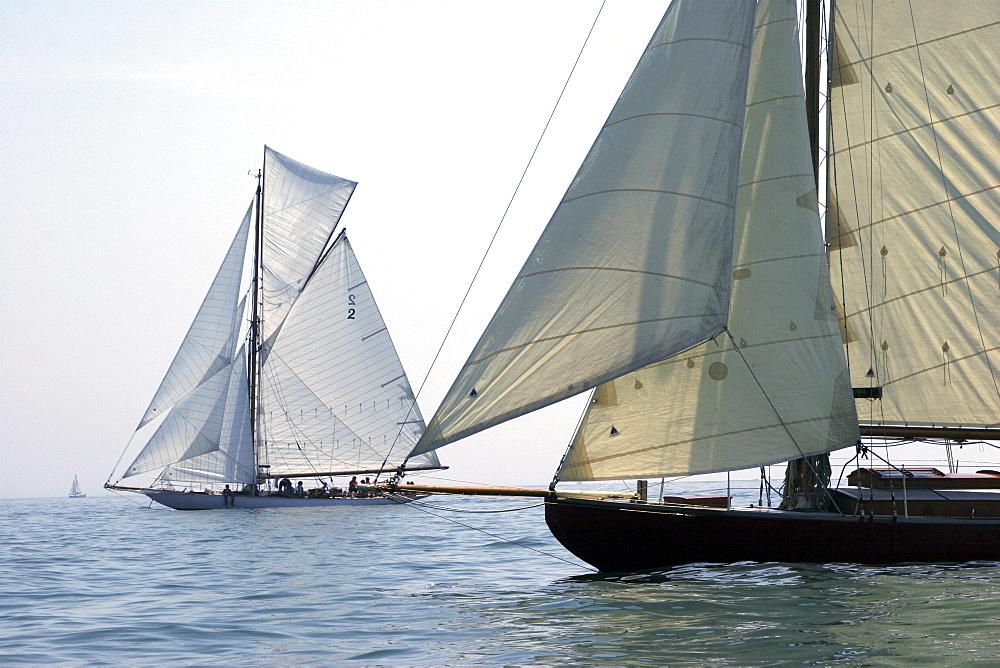 Yachts. Classic Boats, Sailing River Dart, Dartmouth, Devon. - 986-11