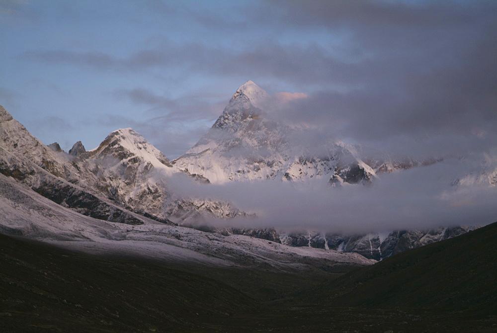Tibetan  Mountain and Clouds. Sun Rise,  Himalayas, Tibet. - 986-137
