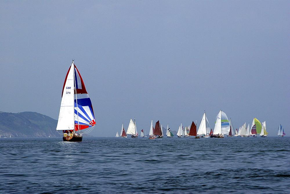 Yachts. Classic Boats, Sailing River Dart, Dartmouth, Devon. - 986-14