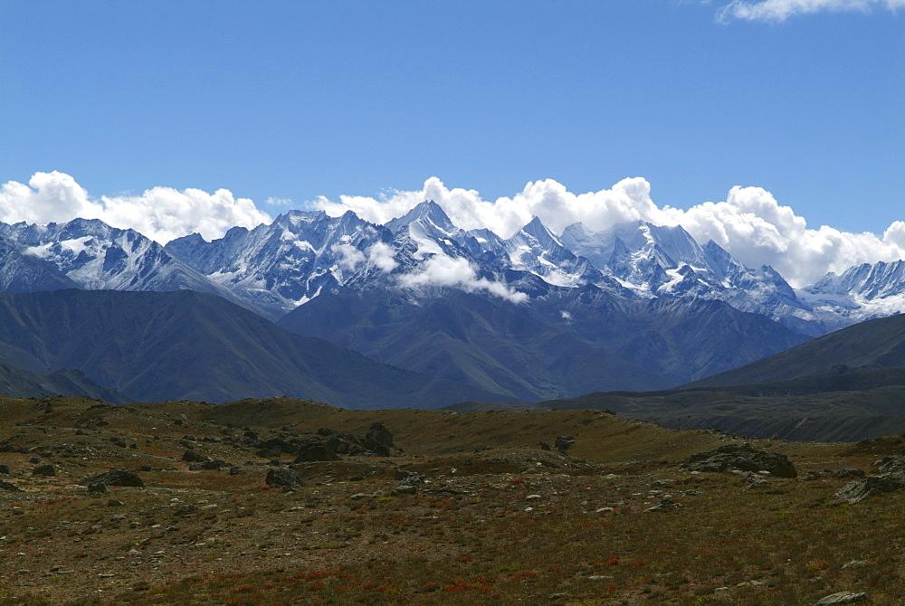 Tibetan  Mountain and Clouds.  Himalayas, Tibet. - 986-140