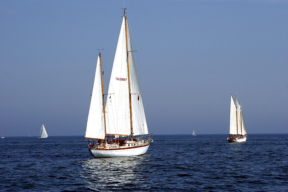 Yachts. Classic Boats, Sailing River Dart, Dartmouth, Devon. - 986-17