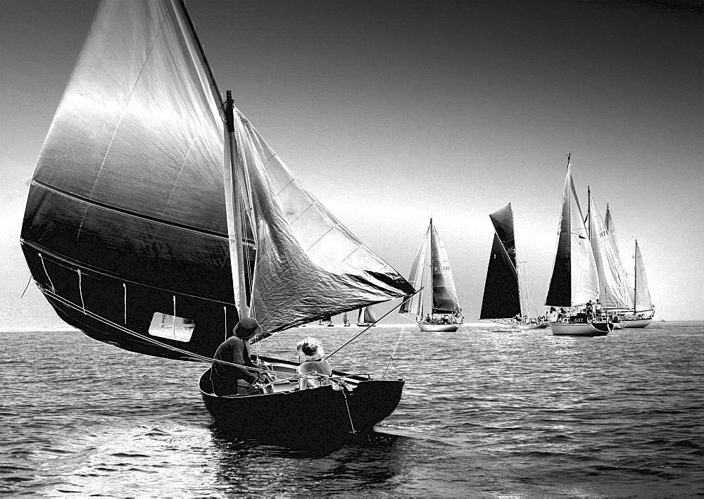 Yachts. Classic Boats, Sailing River Dart, Dartmouth, Devon. - 986-19