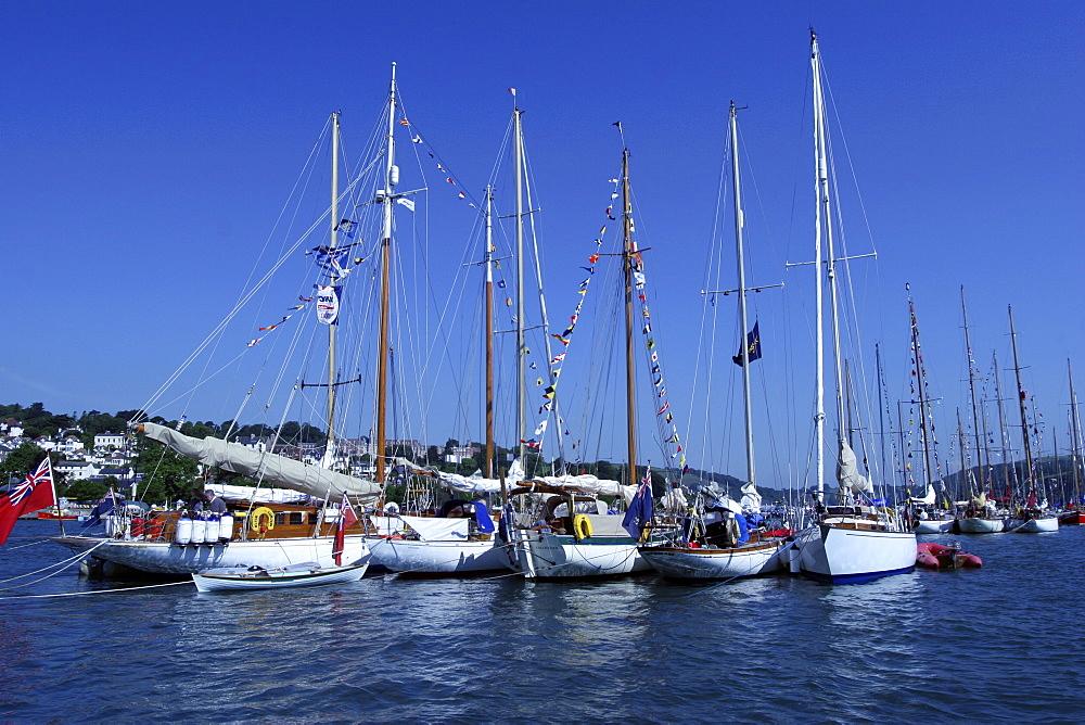 Yachts. Classic Boats, Sailing River Dart, Dartmouth, Devon. - 986-2