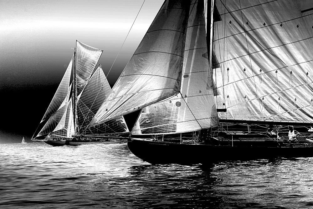 Yachts. Classic Boats, Sailing River Dart, Dartmouth, Devon. - 986-24