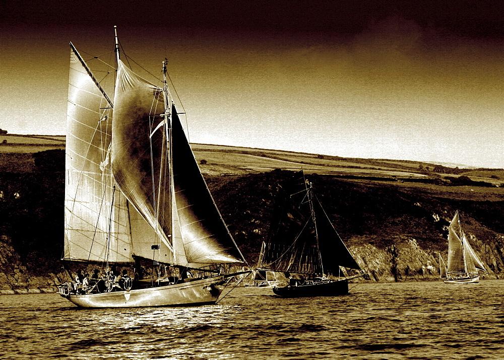 Yachts. Classic Boats, Sailing River Dart, Dartmouth, Devon. - 986-27