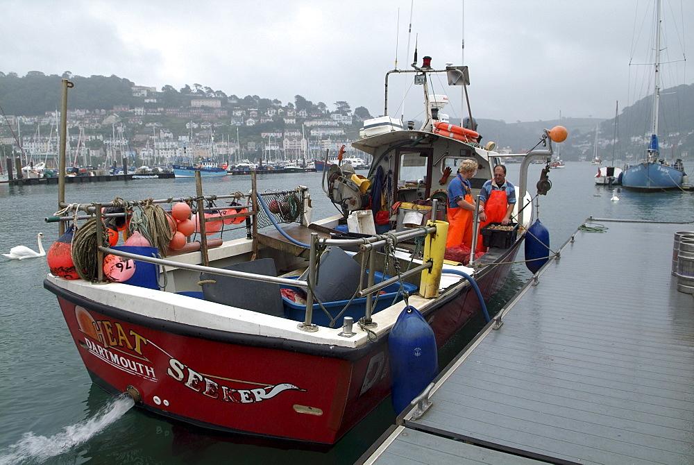Fishing Boat. River Dart, Dartmouth, Devon. - 986-31
