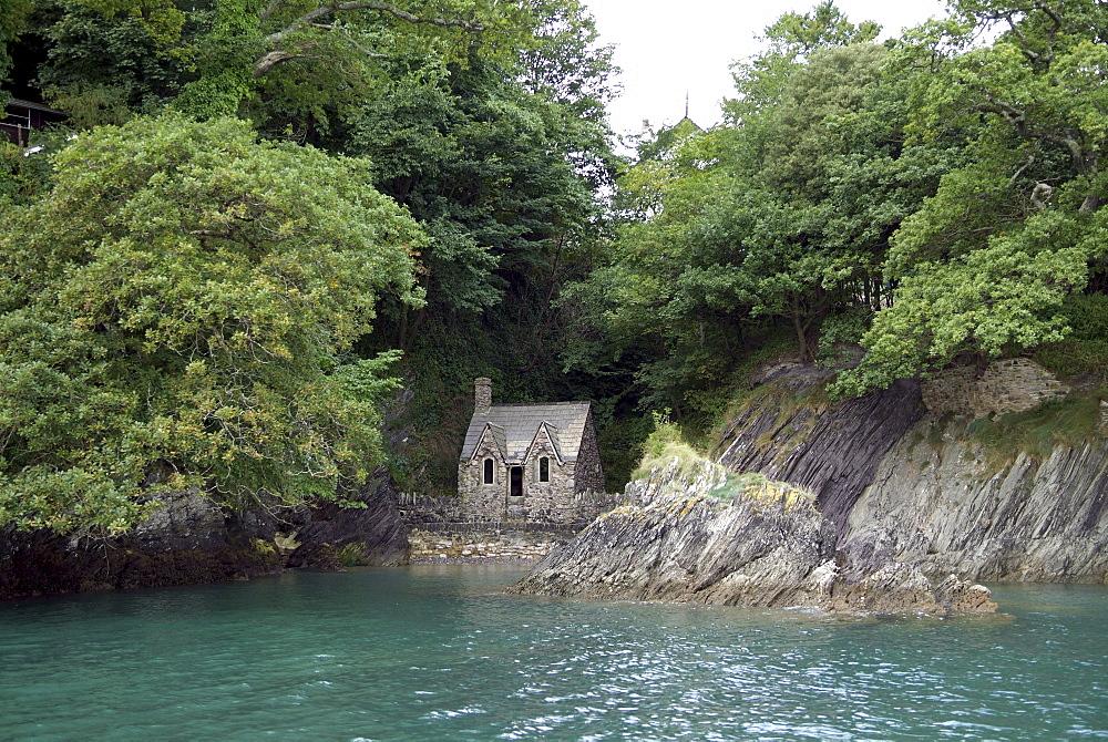 dartmouth -old boat houseBoat House. River Dart, Dartmouth, Devon. - 986-33