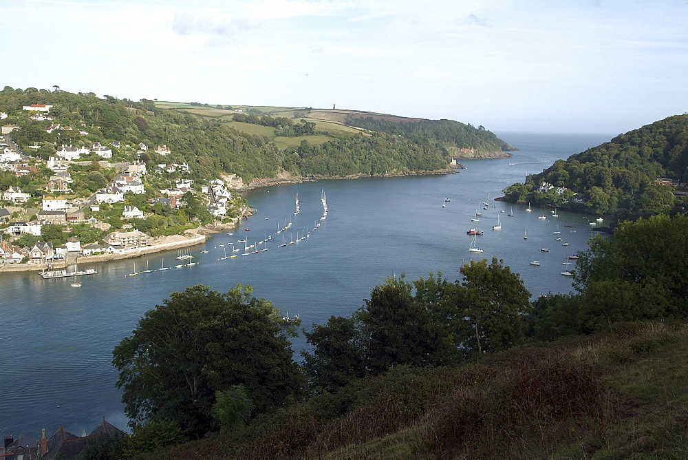 Dartmouth & Kingswear. River Dart and Town. - 986-38