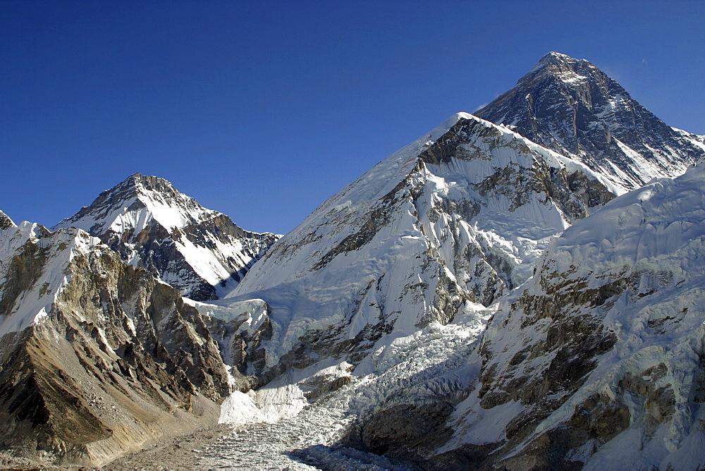 Mount Everest. from  Kala Pattar, Kumbu Glacier,  Nepal - 986-74