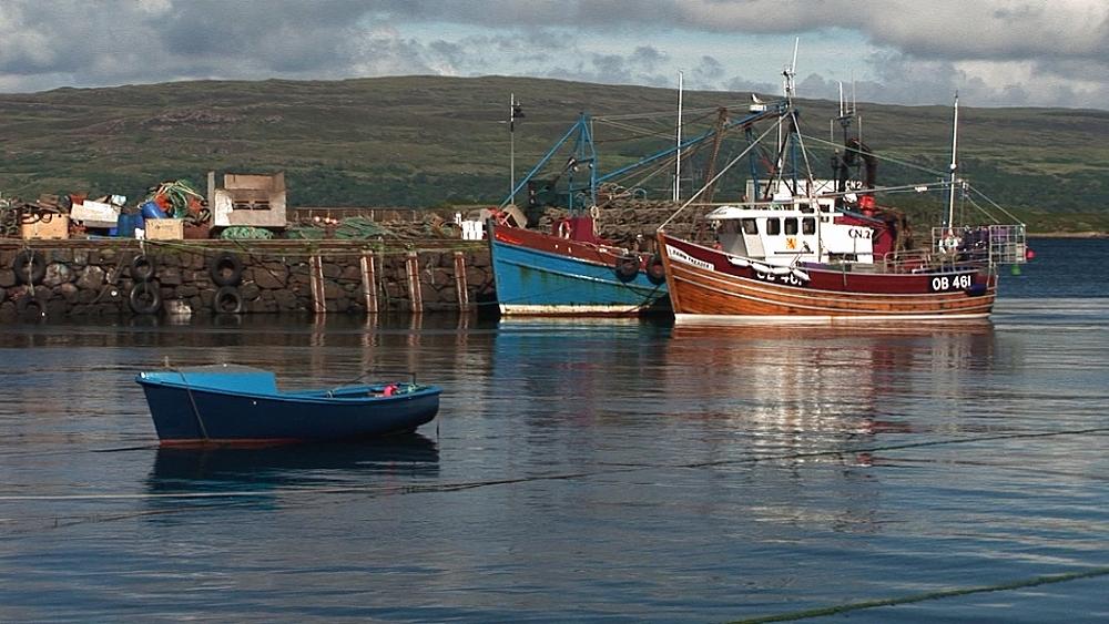 Scenic harbour. Tobermory. Mull. Scotland - 988-497