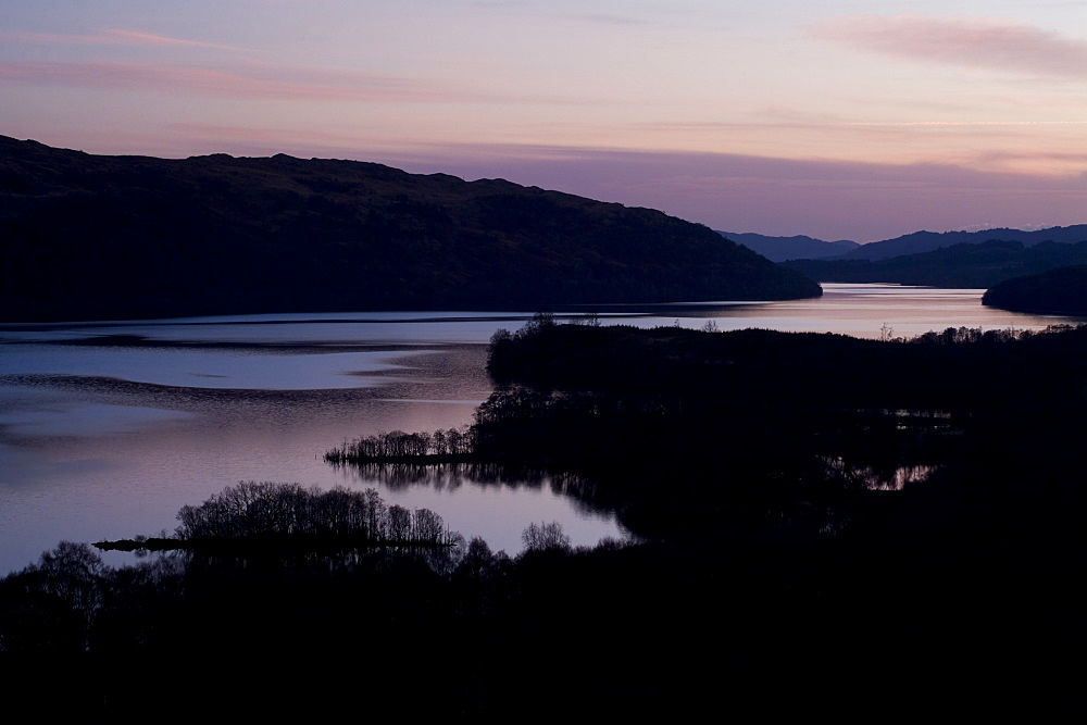Loch Awe high view point sunset.  Argyll, Scotland - 995-247