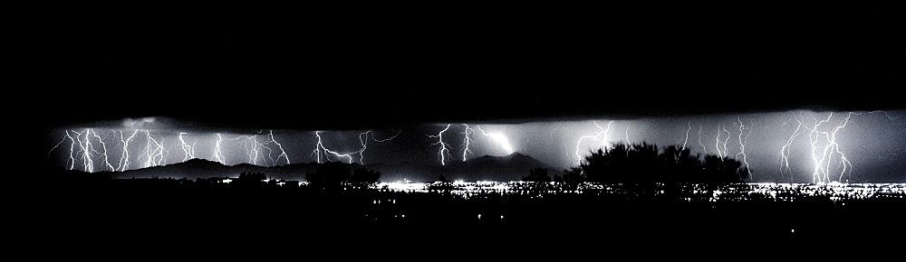 Darkness Symphony, Lightning; Storm, Cubasco; Tucson; Arizona - 1065-28