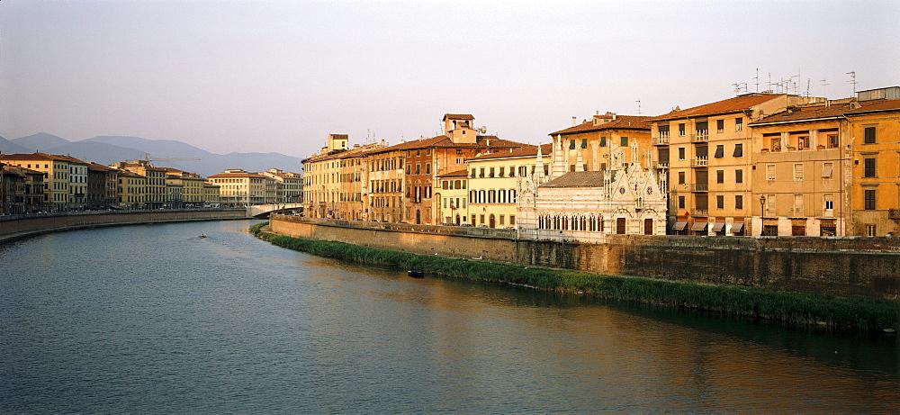 Gothic church Santa Maria della Spina, Arno river, Pisa, Tuscany, Italy